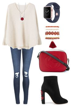 """Untitled #112"" by tazkiasaras on Polyvore featuring Dolce&Gabbana, Cheap Monday, MANGO, BERRICLE, Gucci and Charlotte Russe"