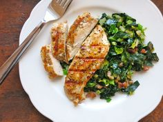 Dinner: A Love Story - Grilled Marinated Chicken Breasts with Kale Sauté Hash. Healthy, juicy and delicious Clean Eating, Healthy Eating, Healthy Cooking, Marinated Grilled Chicken, Cooking Recipes, Healthy Recipes, Healthy Options, Cooking Ideas, Healthy Meals