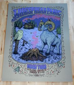 Widespread Panic Event Poster February 10-11-12 2012 Denver, CO Art by Marq Spusta