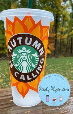 Autumn is Calling Starbucks cold cup 24 oz