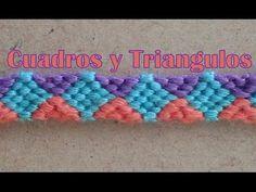 Pulsera de Hilo: Cuadros y Triangulos - YouTube
