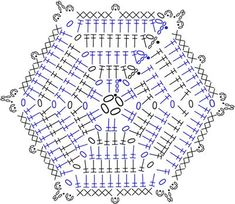 cookie snowflake crochet chart diagram