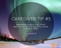 """A Place for Mom caregiver tips. """"Remember, even if they don't seem to know you, you still know who they are."""" - Joanne P. Alzheimer Care, Dementia Care, Alzheimer's And Dementia, Dementia Quotes, Alzheimers Quotes, Caregiver Quotes, Hospice Quotes, Prayer Images, Dementia Awareness"""