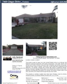 Back on the MARKET!!!  **Join us for an Open House this Saturday from 11AM - 3PM**  **HOUSE FOR SALE IN FONTANA** For additional pictures and details please visit the unique website: ...  http://7460gingerdrive.isnow4sale.com/  Call to schedule your private showing (909) 874-4700