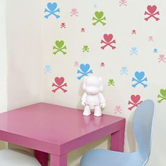 Tokidoki wall decals from WallCandy Nursery Wall Decor, Girl Nursery, Girl Room, Baby Bedroom, Lilo And Stitch, Reuse, Wall Decals, Baby Things, Baby Ideas