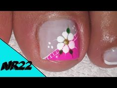 Toe Nail Designs, Nail Decorations, Toe Nails, Beauty Nails, Nail Art, Flowers, Youtube, Kylie, Diana