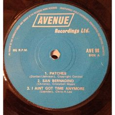 """7"""" 33RPM Six Top Hits EP from Avenue Recordings"""