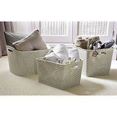 Faux Rattan Storage Range - Good for table caddies and books