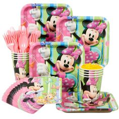 Minnie Mouse Party Standard Kit Serves 8 Guests
