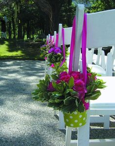 Wedding aisle decorations and centerpieces