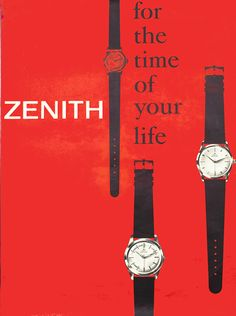 Zenith, For The Time Of Your Life by Fred, Murer | Vintage Posters at International Poster Gallery