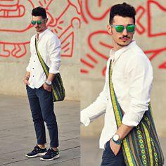 Hawkers Sunglasses, Topman Shirt, Nike Shoes