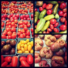 Yesterday at the farmers market: tomatoes, tomatoes, tomatoes.