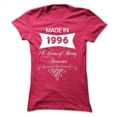Made in 1996 - NZ2 - #blue hoodie #short sleeve sweatshirt. GET YOURS => https://www.sunfrog.com/Birth-Years/Made-in-1996--NZ2-HotPink-Ladies.html?60505