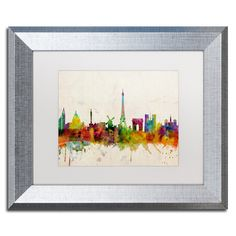 Paris Skyline by Michael Tompsett Framed Graphic Art