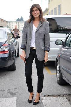 Le Fashion Blog 11 Ways To Wear Kitten Heels Emmanuelle Alt Street Style Grey Jacket Studded Belt Cropped black Jeans Via Trendy Crew photo Le-Fashion-Blog-11-Ways-To-Wear-Kitten-Heels-Emmanuelle-Alt-Street-Style-Grey-Jacket-Via-Trendy-Crew-2.jpg