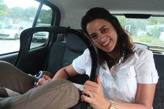 Na hora de buscar a Luísa eu não consegui colocar bebê conforto no carro