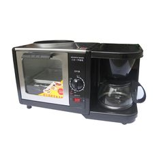 125.73$  Watch now - http://ali2w9.worldwells.pw/go.php?t=32657392572 - Multi-function 3 in 1 breakfast maker mini household oven coffee maker 1200W breakfast machine bread toaster fried egg cooker