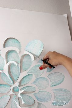 DIY Wall Decal for $1 - so easy and it turned out awesome!