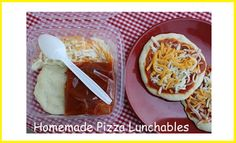 Back to School: Make Your Own Pizza Lunchables!