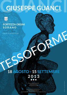 Manifesto 50x70 cm per la mostra dell'artista Giuseppe Guanci - C&P ADVER