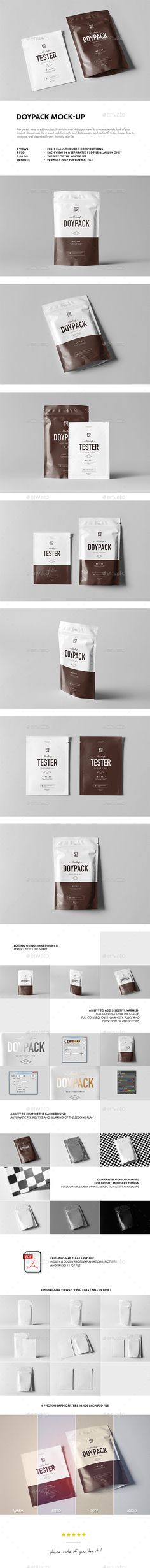 Doypack Mockup — Photoshop PSD #food drink bag seal #stand up pouches • Download ➝ https://graphicriver.net/item/doypack-mockup/19283328?ref=pxcr