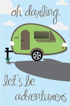 Teardrop camper art