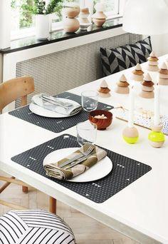 simple modern table setting