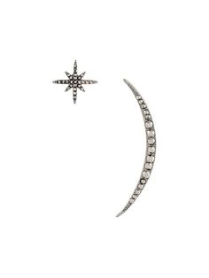 Federica Tosi embellished star and moon earrings