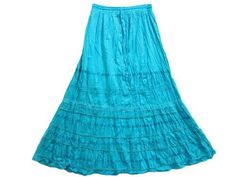 "Boho Gypsy Skirt Women Cotton Skirts Dodger Blue Lacework Long Skirt 38"" Mogul Interior, http://www.amazon.com/gp/product/B008PO3BQ8/ref=cm_sw_r_pi_alp_hhsmqb1PN7ZHW"