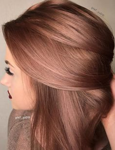 """27 Rose Gold Hair Color Ideas That Make You Say """"Wow!"""" - Latest Hair Colors 27 Rose Gold Hair Color Ideas That Make You Say """"Wow!"""", Rose Gold Hair Color Gold Pink Hair Colors Fashion for certain color Gold Hair Colors, New Hair Colors, Cool Hair Color, Brown Hair Colors, Winter Hair Color Short, Spring Hair Colors, Unique Hair Color, Trendy Hair Colors, Beautiful Hair Color"""