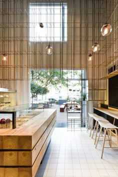 Gallery of shenzhen deli / linehouse - 5 bar магазин размеще Architecture Restaurant, Café Restaurant, Restaurant Design, Interior Architecture, Modern Restaurant, Bar Interior, Retail Interior, Modern Interior, Apartment Interior