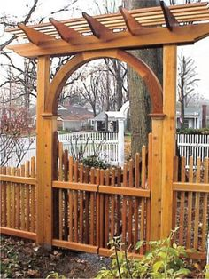 Pyramid Picket Garden Gate... want the gate, but not the arbor...