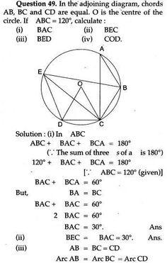 ICSE Solutions for Class 10 Mathematics - Circles - A Plus Topper Circle Geometry, Mathematics Geometry, Geometry Worksheets, Physics And Mathematics, Circle Theorems, Maths Ncert Solutions, Math Vocabulary, Math Formulas, Math About Me
