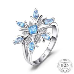 Wedding & Engagement Jewelry Jexxi Cheap And Fine 925 Sterling Silver Promise Rings Beautiful Purple Rhinestone Luxury Jewelry For Wife Christmas Gift A Complete Range Of Specifications