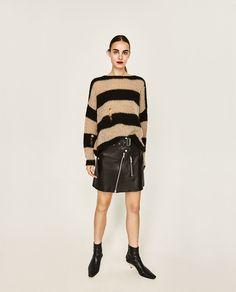 OVERSIZED RIPPED SWEATER-Sweaters-KNITWEAR-WOMAN-SALE | ZARA United States
