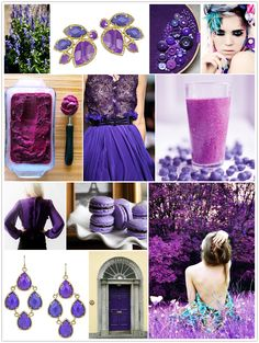 Kendra Scott's fall inspiration: PURPLE! Love it.