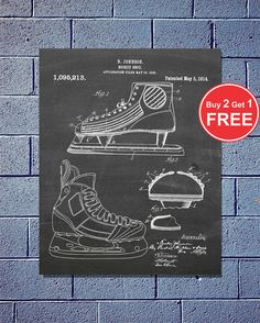 Patent Evolution Hockey Skate Vector Blueprint Patent