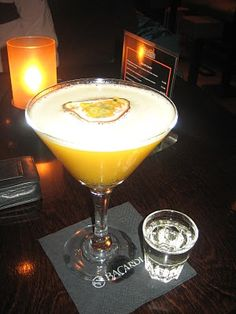 Pornstar Martini...one my fave cocktails with Champagne Chaser