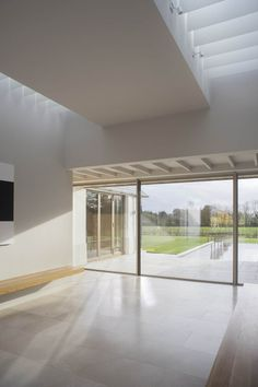 This three bedroom house near the river Barrow was conceived as a home and garden in the country. The clients were looking for a house that was single. Modern Barn House, Modern Bungalow House, Modern House Design, Dormer Bungalow, House Designs Ireland, House Cladding, Modern Farmhouse Exterior, Farmhouse Renovation, Courtyard House