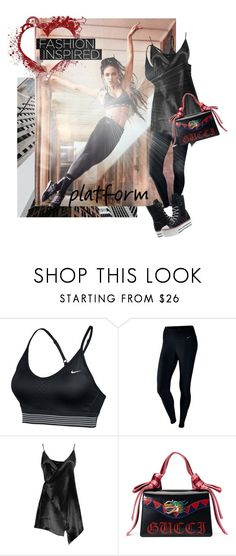 """FKA Twigs inspired"" by ivyargmagno ❤ liked on Polyvore featuring NIKE, Boohoo, Gucci, celebrity, CelebrityStyle, womensFashion and styleresolution"