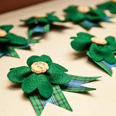 St Patrick's wedding boutonniere