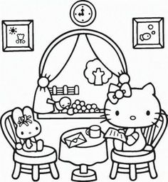 Looking for a Hello Kitty Coloring Pages Wallpapers. We have Hello Kitty Coloring Pages Wallpapers and the other about Coloring Page Fun it free. Mermaid Coloring Pages, Bear Coloring Pages, Cartoon Coloring Pages, Free Printable Coloring Pages, Coloring Pages For Kids, Coloring Books, Kids Coloring, Mandala Coloring, Coloring Sheets