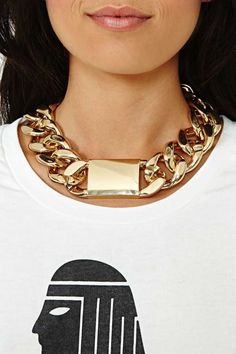 Chained ID Necklace - Gold