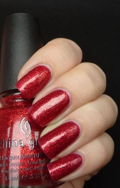 China Glaze Ring In The Red - have it on my toes right now! Very festive!!