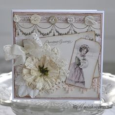 A shabby and pink Christmas card