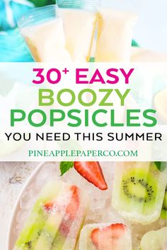 Easy Alcoholic Popsicle Recipes - Boozy Popsicles - Pineapple Paper Co. of the BEST Easy Alcoholic Popsicles that you need to enjoy this summer! Boozy popsicles are ALL the rage - try them now! Recipes curated by Pineapple Paper Co. Champagne Popsicles, Alcoholic Popsicles, Easy Alcoholic Drinks, Wine Popsicles, Drinks Alcohol, Best Easy Dessert Recipes, Homemade Desserts, Homemade Breads, Watermelon Ice Pops