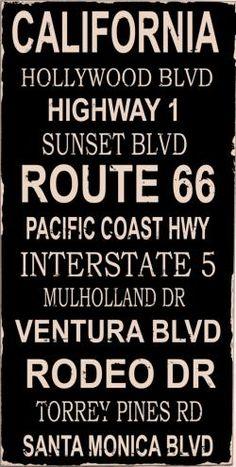 California Roads...