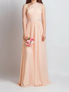 Strapless Empire Rose Prom Dress With Sequin Embroidery One Straps