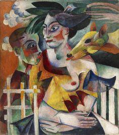 Heinrich Campendonk (1889-1957) Duits expressionistische schilder, glas-in-loodontwerper, graficus, muurschilder, glasschilder, houtsnijder.  Onderwerpen: dieren, figuurvoorstellingen, interieurs, koeien, landschappen, naaktfiguren, non-figuratief, religie, stadsgezichten, stillevens, zelfportretten.